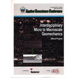 HGS AGC 2013. Interdisciplinary Micro to Macroscale Geomechanics