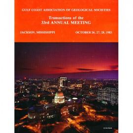 GCAGS033. GCAGS Volume 33 (1983) Jackson