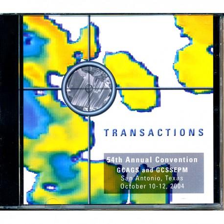 GCAGS054CD. GCAGS Volume 54 (2004) San Antonio CD ROM
