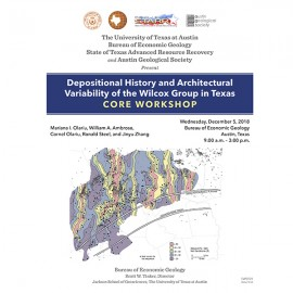 SW0024. Depositional History and Architectural Variability of the Wilcox Group in Texas: Core Workshop