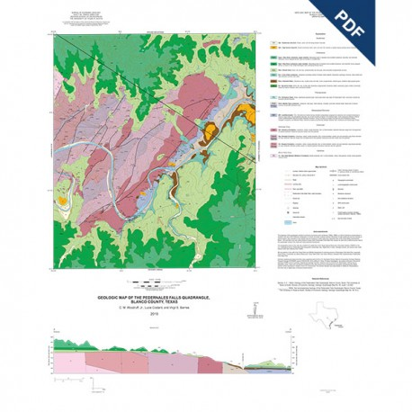 Ofm0243d Geologic Map Of The Pedernales Falls Quadrangle Blanco