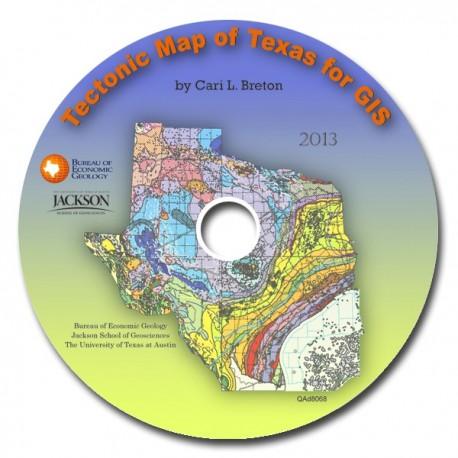 GIS0001. Tectonic Map of Texas for GIS
