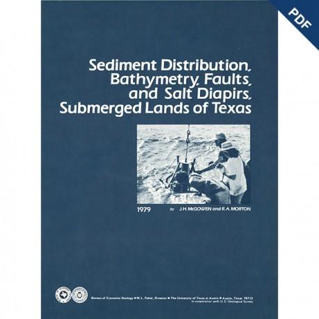 SR0008D. Sediment Distribution, Bathymetry, Faults, and Salt Diapirs...Texas