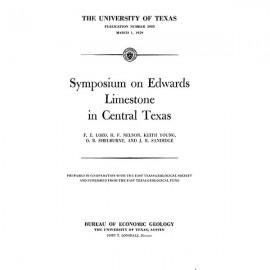 PB5905. Symposium on Edwards Limestone in Central Texas:...