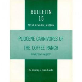 TMMBL015. Pliocene carnivores of the Coffee Ranch (type Hemphill) local fauna