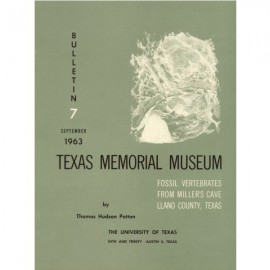 TMMBL007. Fossil vertebrates from Miller's Cave, Llano County, Texas