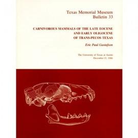 TMMBL033. Carnivorous mammals of the late Eocene and early Oligocene of Trans-Pecos Texas